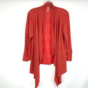 Size XL Chalet Striped Open Front Cardigan Top